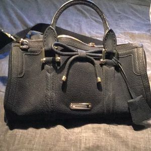 Blue burberry bag